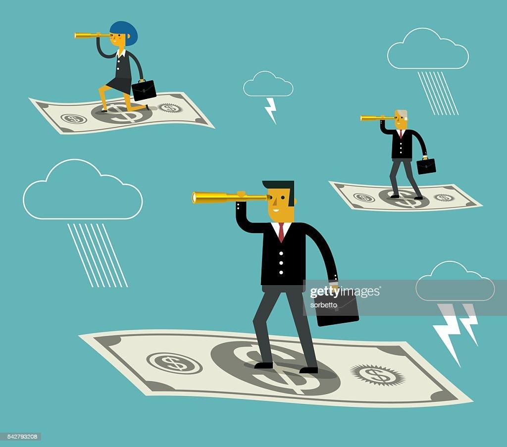 Flying cash : stock illustration
