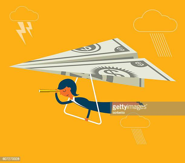flying cash - cash flow stock illustrations, clip art, cartoons, & icons