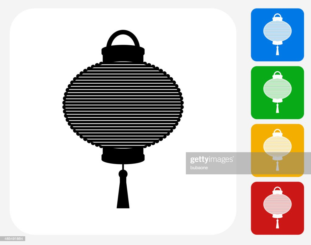 flying chinese lantern icon flat graphic design vector art getty