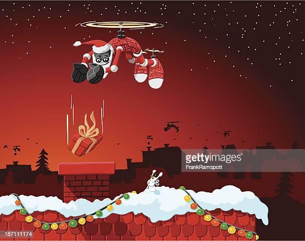 Flying Weihnachten Roboter