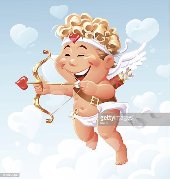 illustrations, cliparts, dessins animés et icônes de volant cupidon - cupidon and saint valentin