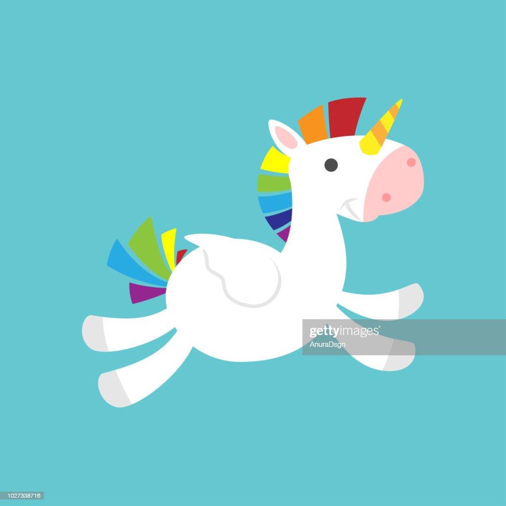 Flying cute baby Unicorn