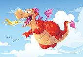 Flying Dragon Breathing Fire