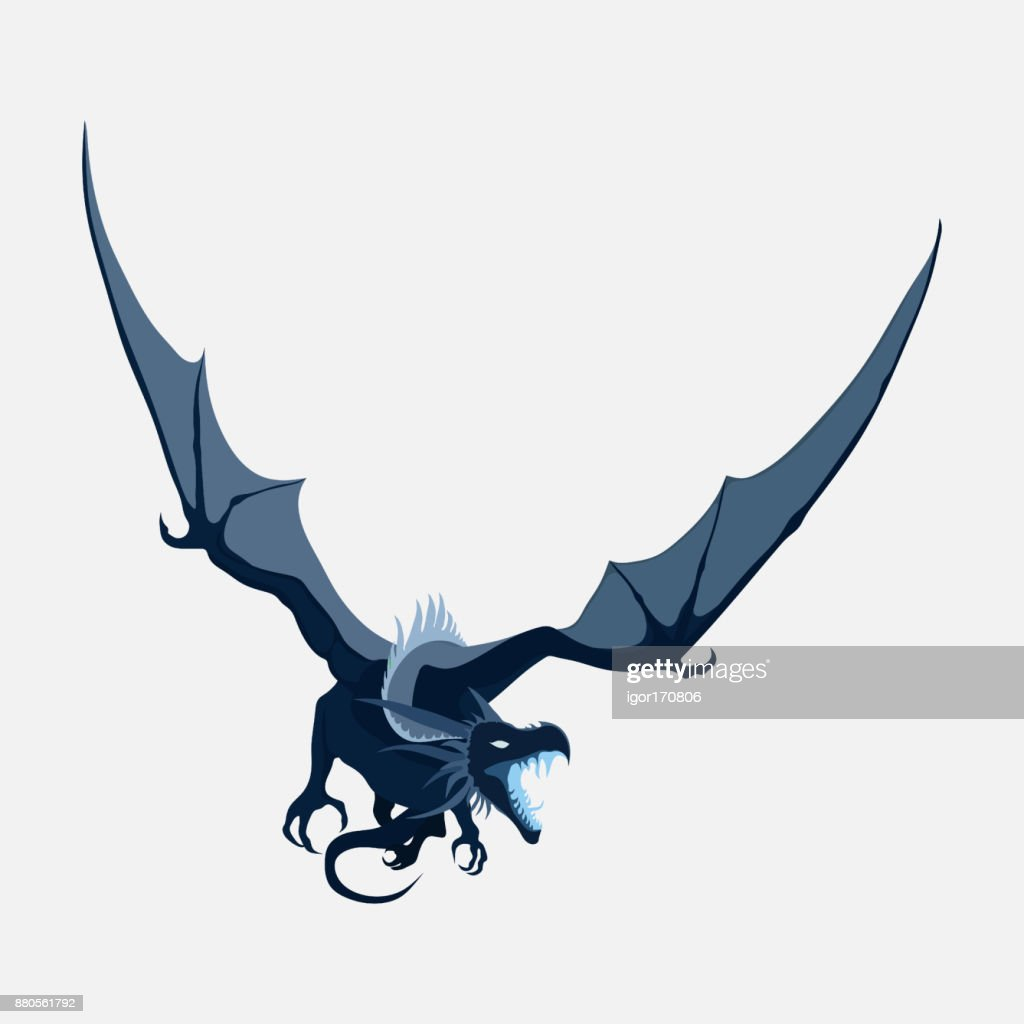 flying dragon, zodiac symbol, company logo