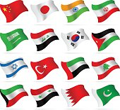 Flying Flags collection - Asia