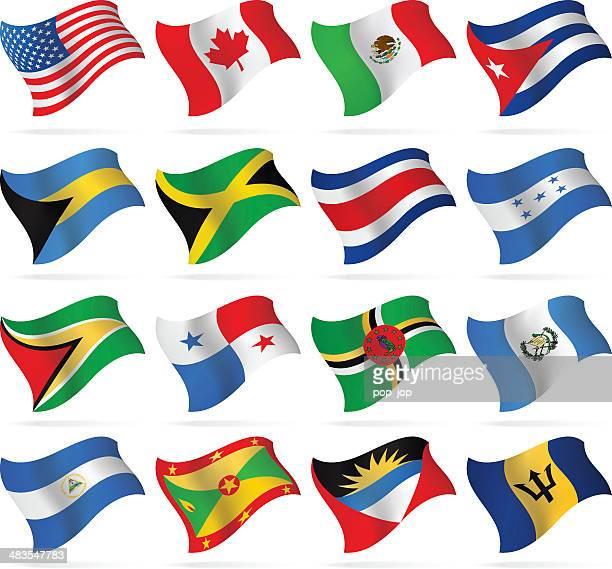 Banderas-North y América Central