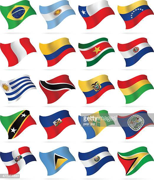 ilustraciones, imágenes clip art, dibujos animados e iconos de stock de banderas de américa central y del sur - bandera argentina