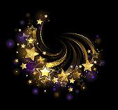 Flying gold star