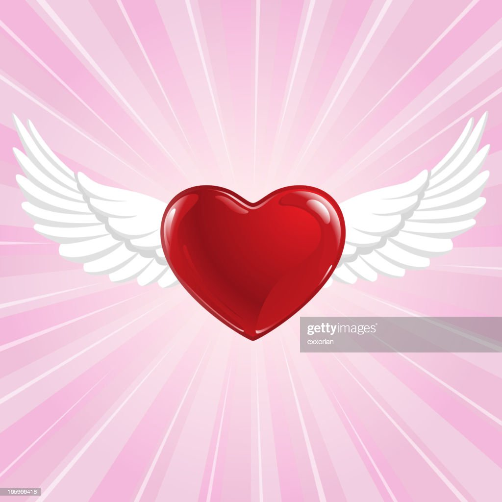 Flying Heart Symbol
