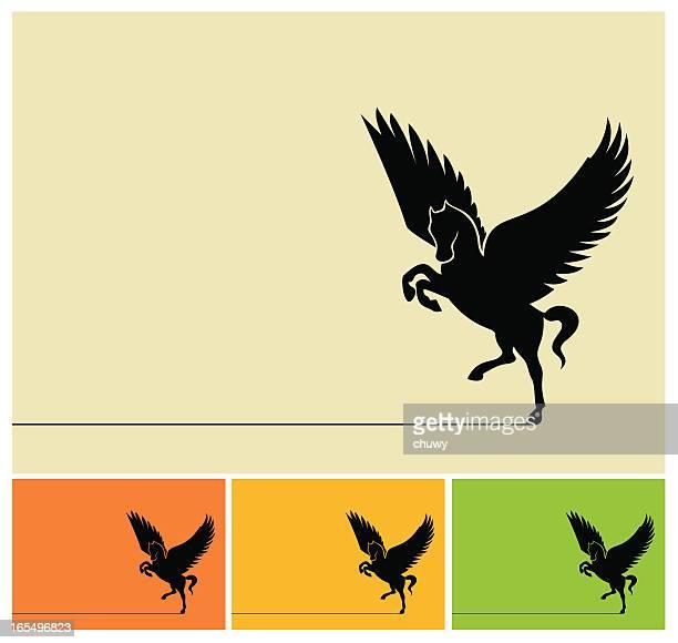 ilustraciones, imágenes clip art, dibujos animados e iconos de stock de flying de caballo - chuwy