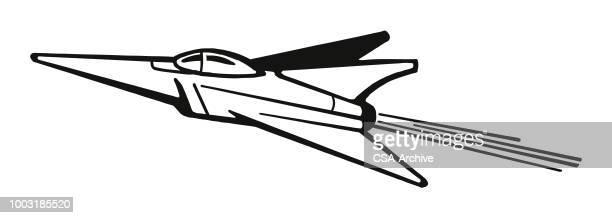 F 16 Line Art