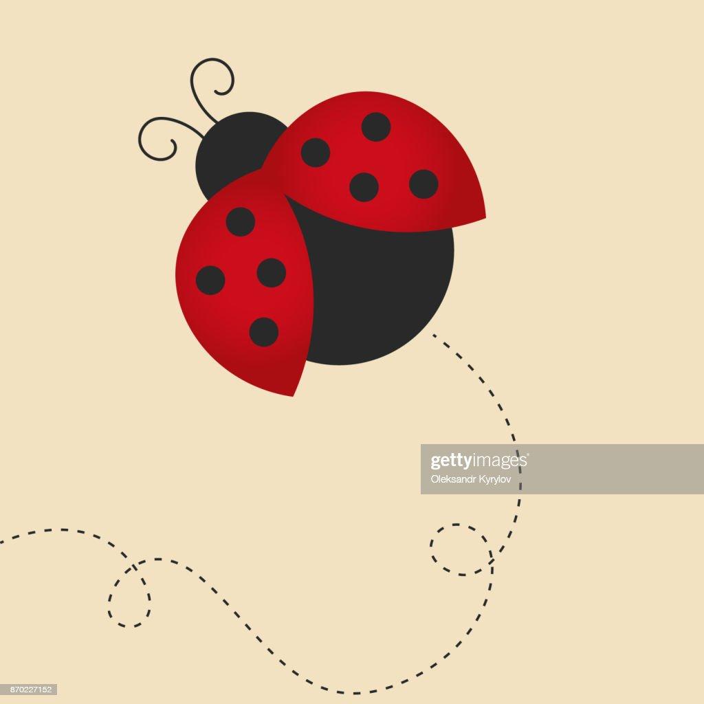 flying lady bug