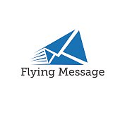 flying message vector design template
