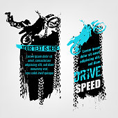Flying Motorcycle Banner