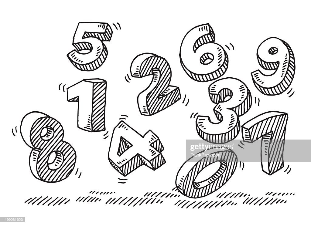 Flying Numbers Drawing