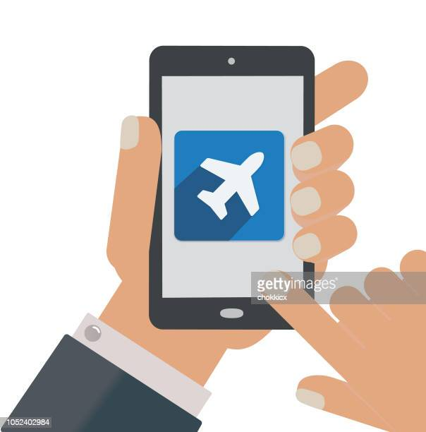 flying or traveling app - boarding pass stock illustrations, clip art, cartoons, & icons
