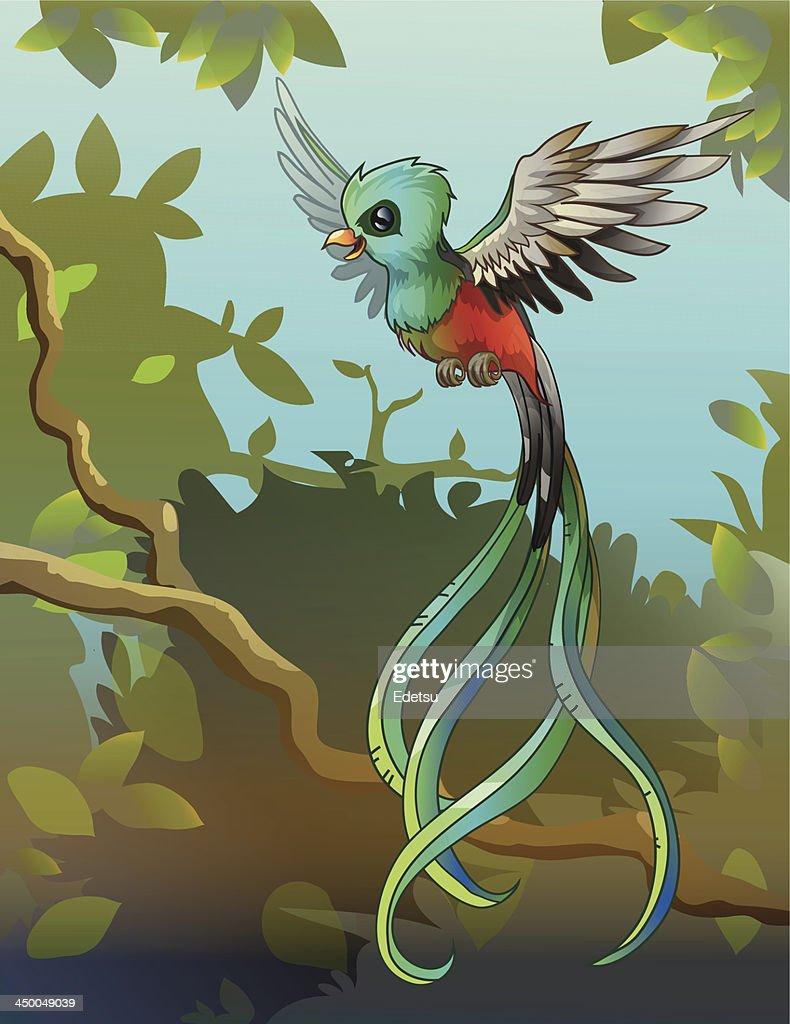 Flying quetzal