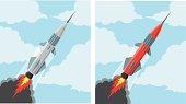 Flying rocket icon