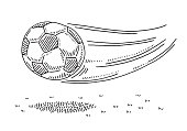 Flying Soccer Ball Drawing