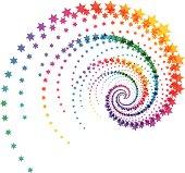 Flying stars abstract illustration