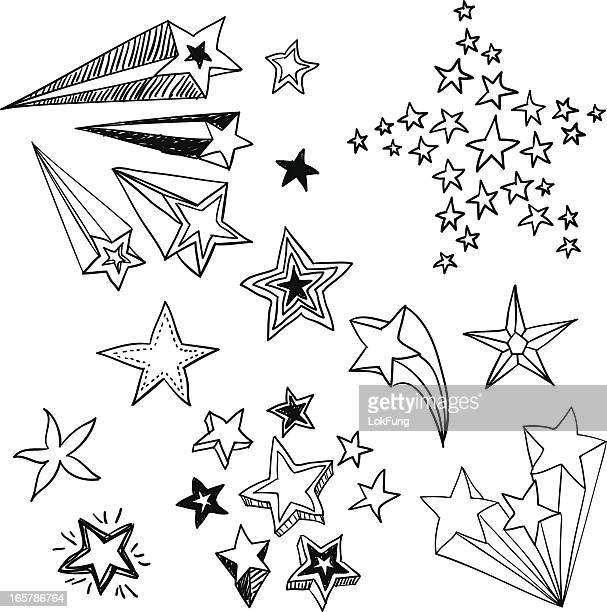 Flying Stars in black and white