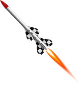 Flying two-stage rocket