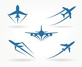 Flying up airplane icons
