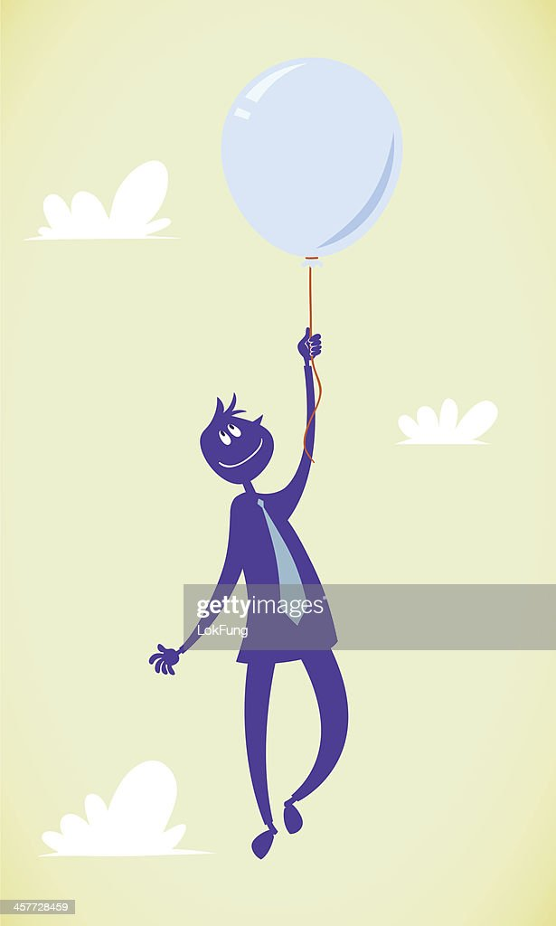 Flying with balloon