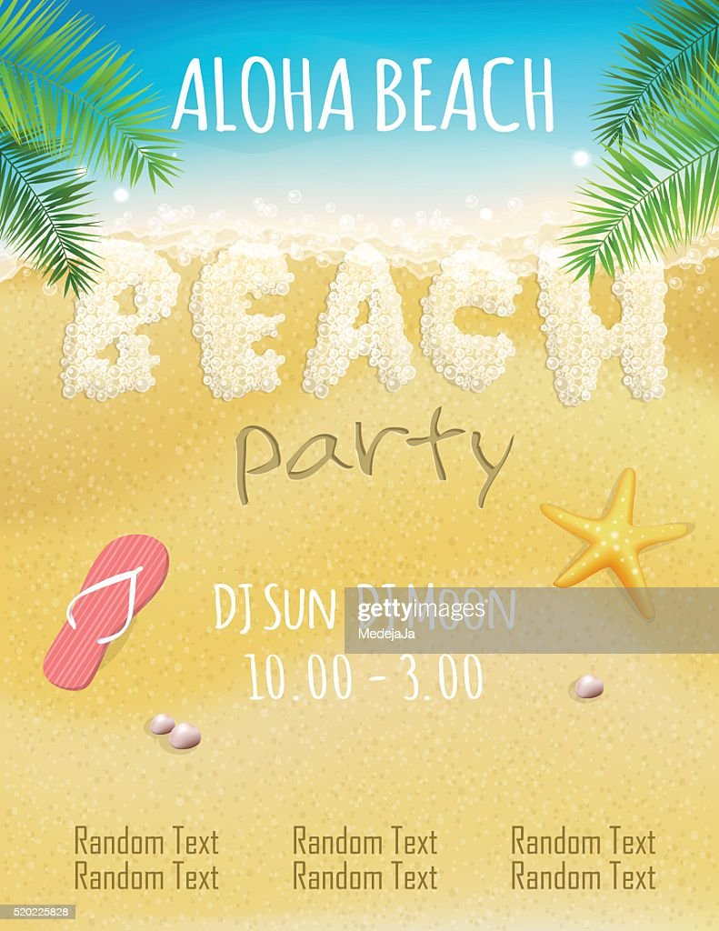 Foam beach party flyer template