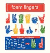 Foam finger set