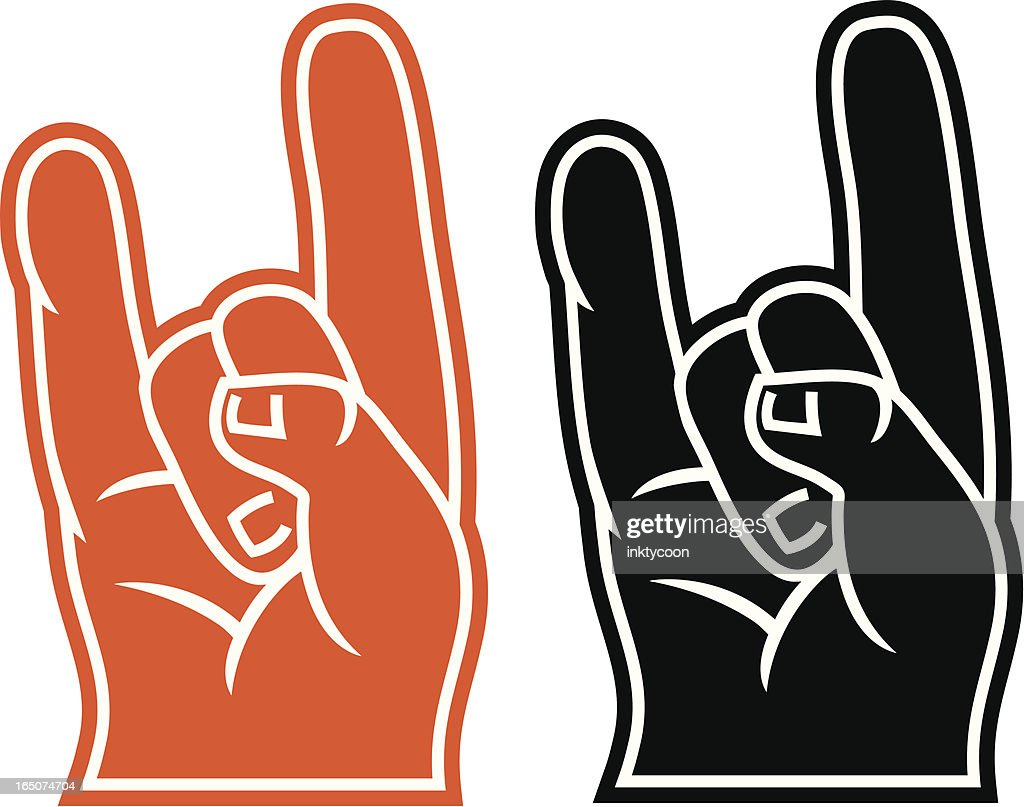 Foam fingers for LongHorns, Rock and Roll