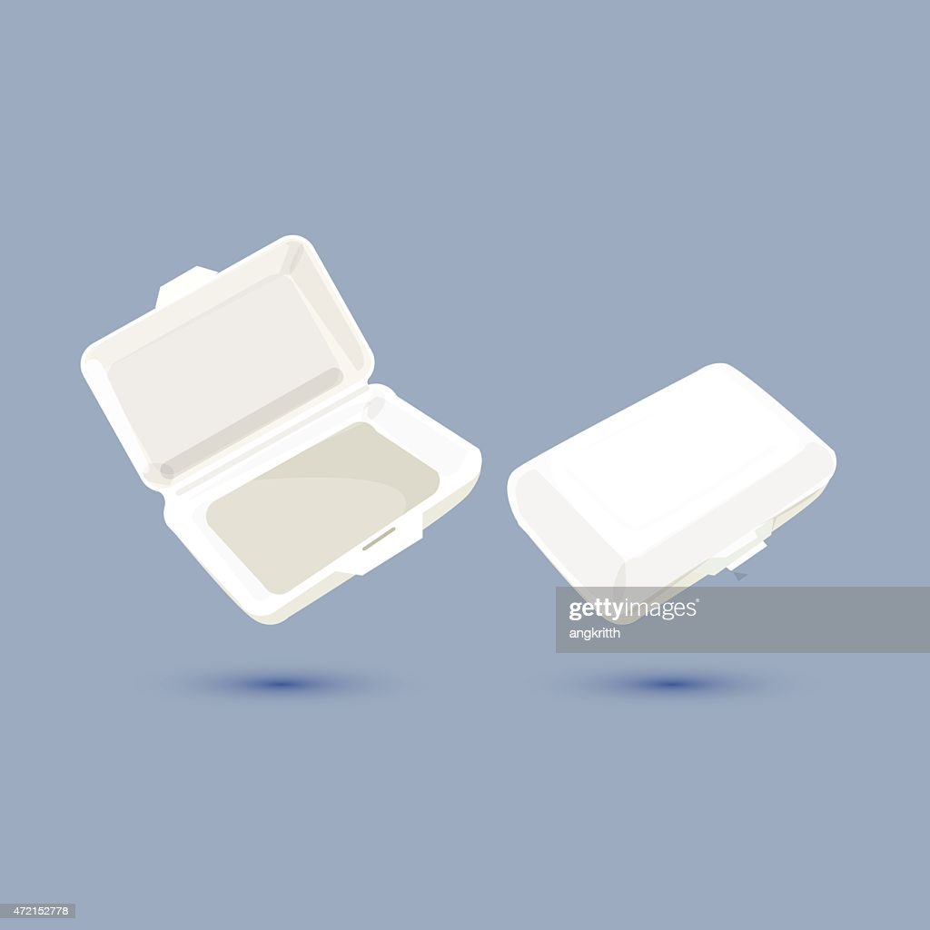 foam lunch box - vector ilustration