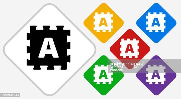 Foam Puzzle Color Diamond Vector Icon