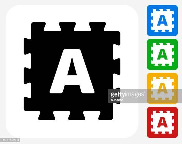 Foam Puzzle Icon Flat Graphic Design