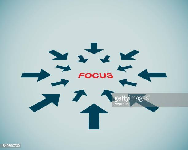 focus - concept - concentration stock illustrations, clip art, cartoons, & icons