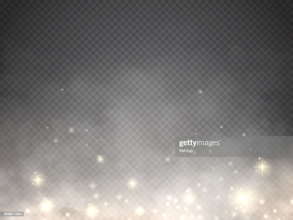 Fog or smoke with glow light isolated transparent special effect