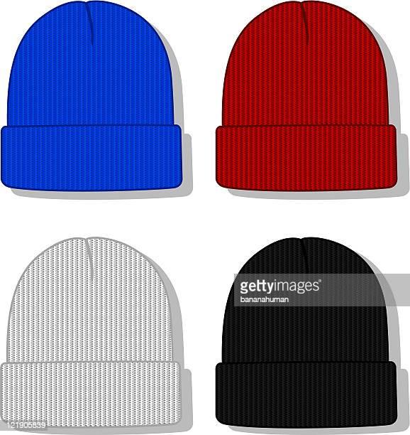 折り返しアップ帽 - ニット帽点のイラスト素材/クリップアート素材/マンガ素材/アイコン素材