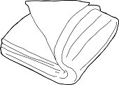 Folded Fabric Outline