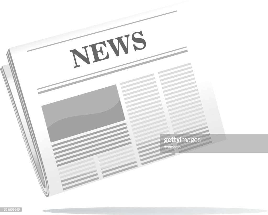 Folded newspaper icon with news header