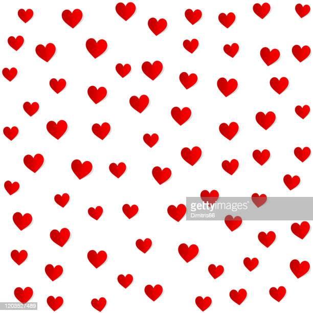 gefaltete papier herzen nahtlose muster. valentinstag, muttertag, geburtstagskarte, tapete oder geschenkpapier-design. - muttertag herz stock-grafiken, -clipart, -cartoons und -symbole
