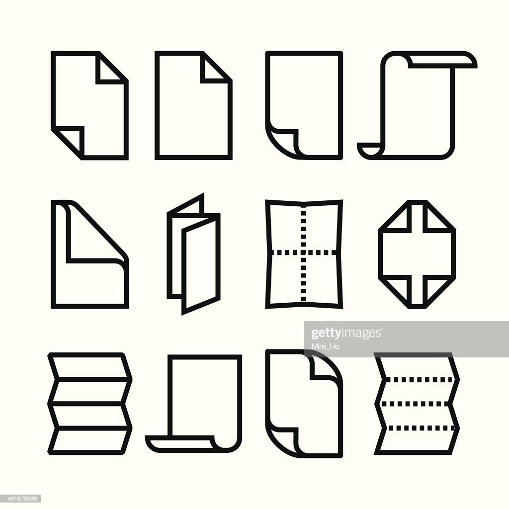Folded paper icons
