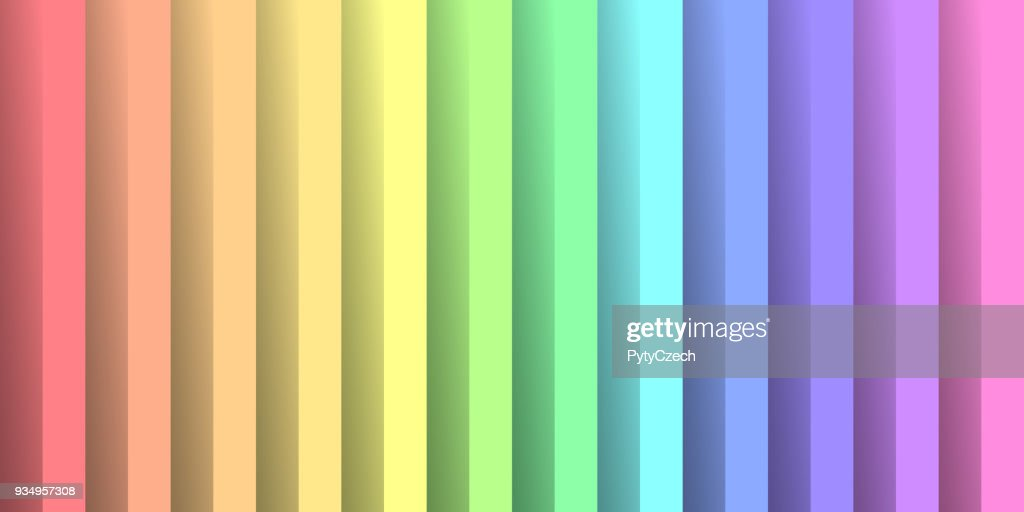 Folded paper in colors of rainbow spectrum. With shadow effect. Happy abstract vector background wallpaper