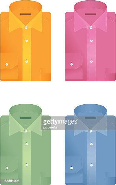 folded shirts - blue blouse stock illustrations