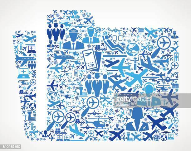 Folder  Aviation and Air Planes Vector Graphic