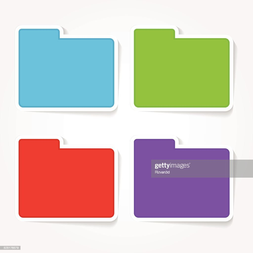 Folder Colorful Vector Icon Design