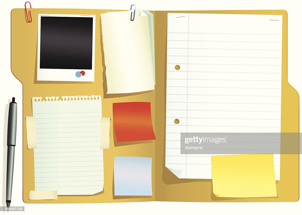 Folder document with papers