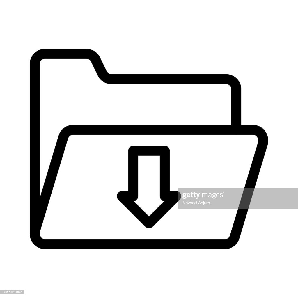 folder download Thin Line Vector Icons