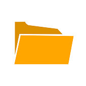 Folder flat icon – for stock