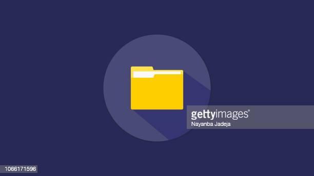 ilustraciones, imágenes clip art, dibujos animados e iconos de stock de archivos de vector de diseño de icono de carpeta - archivo