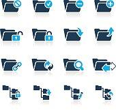 Folder Icon Set 1 // Azure Series